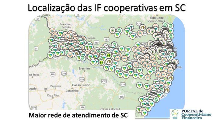Rede de Atendimento das cooperativas de crédito em Santa Catarina
