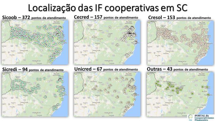 Rede de Atendimento dos sistemas cooperativos em Santa Catarina